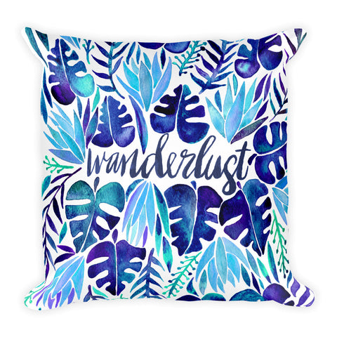 Wanderlust – Blue Palette  •  Square Pillow