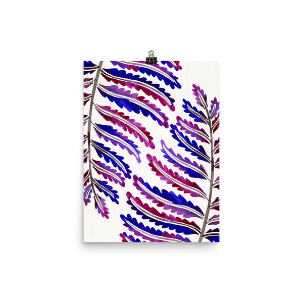 Fern Leaf – Indigo Pattern • Art Print