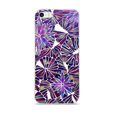 Water Lilies – Mauve Palette  •  iPhone 5/5s/Se, 6/6s, 6/6s Plus Case
