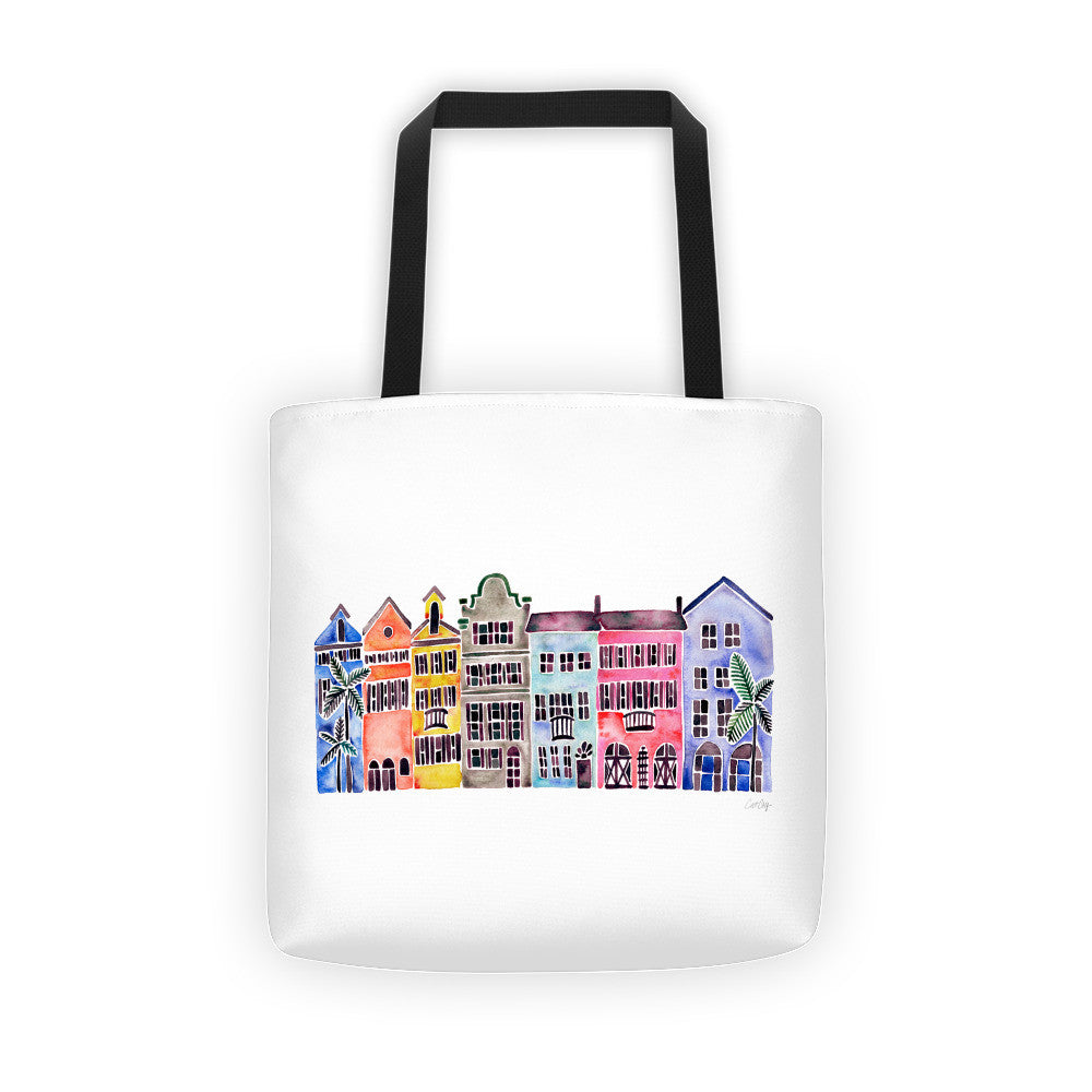 Rainbow Row • Tote Bag