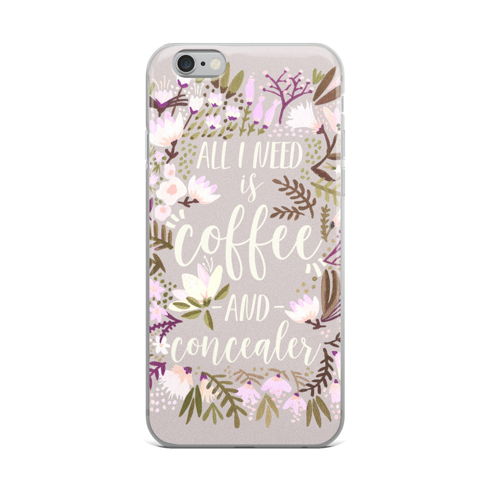 Coffee & Concealer – Spring Palette • iPhone Case