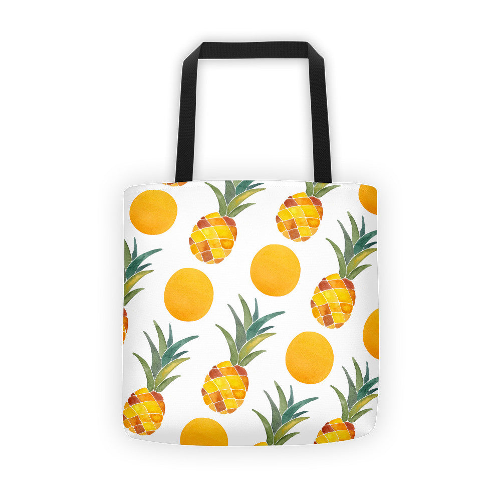 Pineapple Dot Pattern • Tote Bag