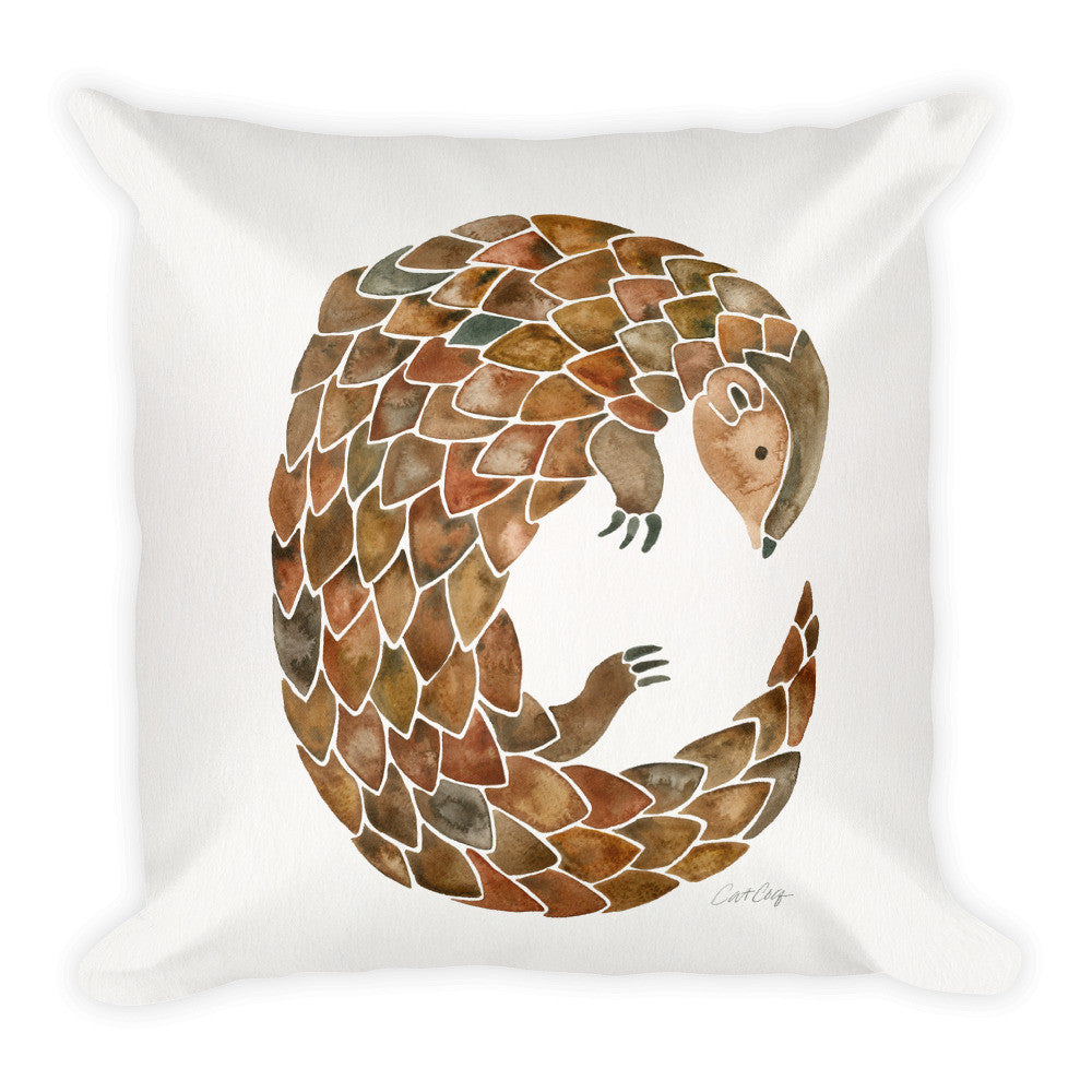 Pangolin  •  Square Pillow