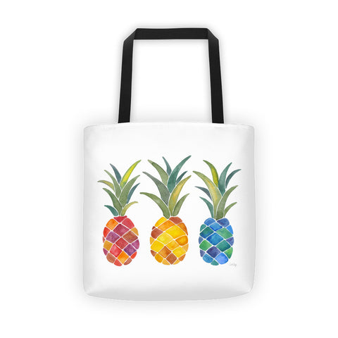 Rainbow Pineapples • Tote Bag