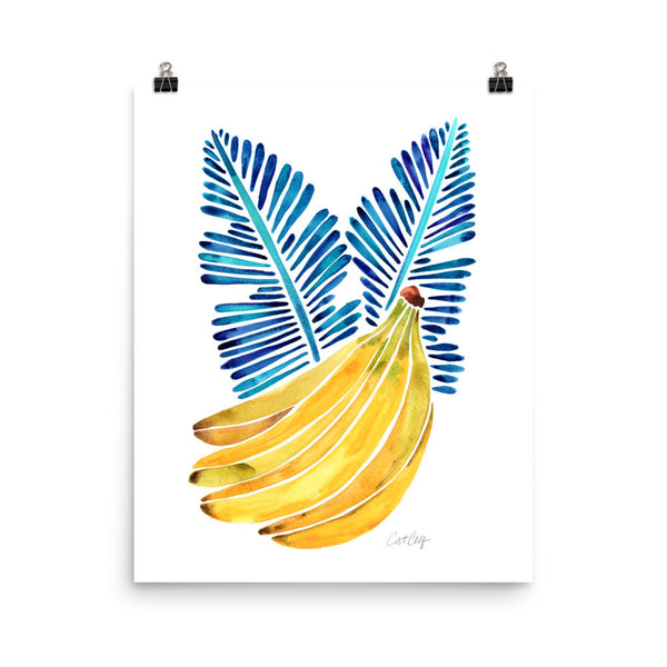 Banana Bunch – Yellow & Blue • Art Print