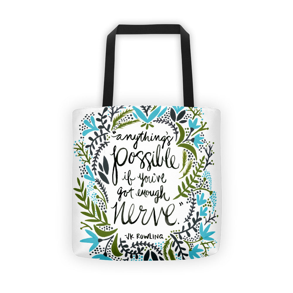 Anything's Possible – Green & Blue Palette • Tote Bag