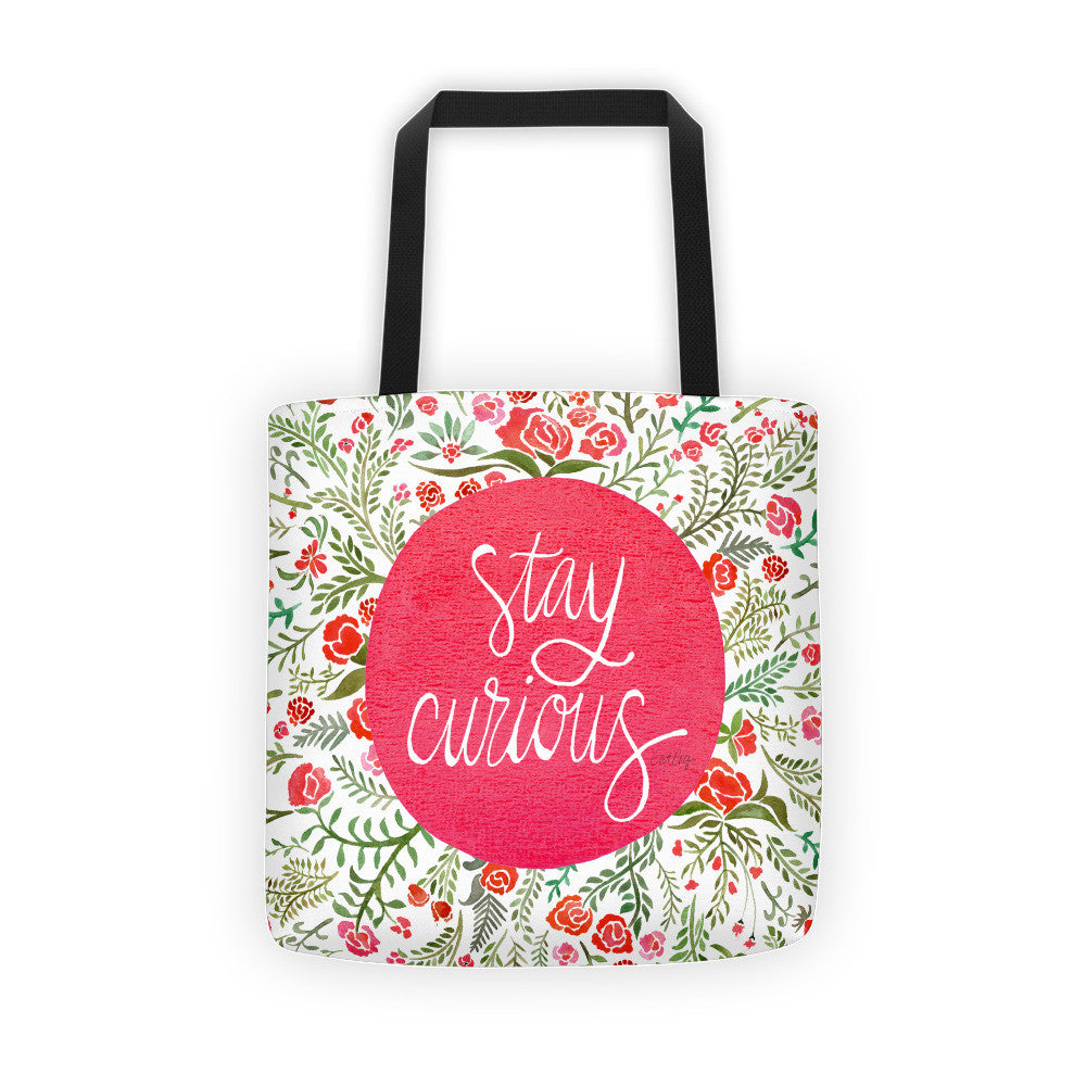 Stay Curious – Pink & Green Palette • Tote Bag