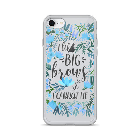 Big Brows – Blue Palette • iPhone Case (Transparent)