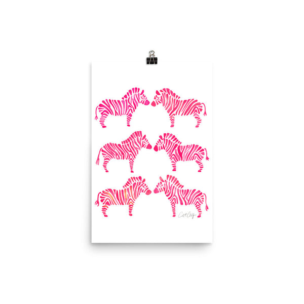 Zebra Collection – Pink Palette • Art Print