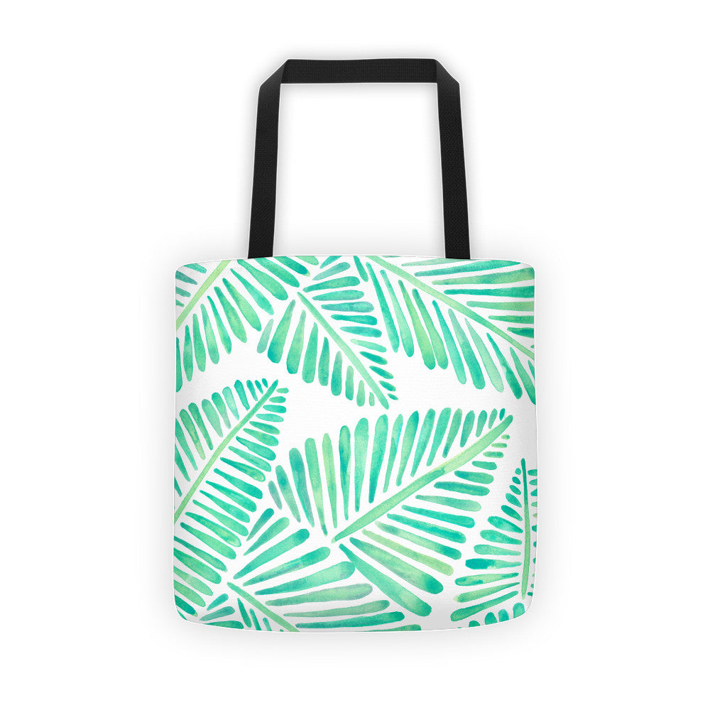Banana Leaves – Mint Palette  •  Tote Bag