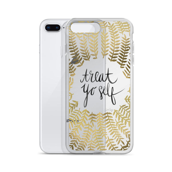 Treat Yo Self – Gold Palette • iPhone Case (Transparent)