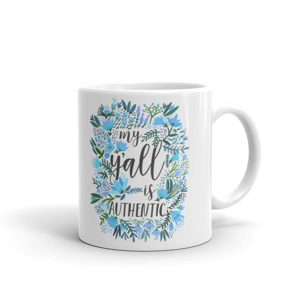 My Y'all is Authentic – Blue Palette • Mug