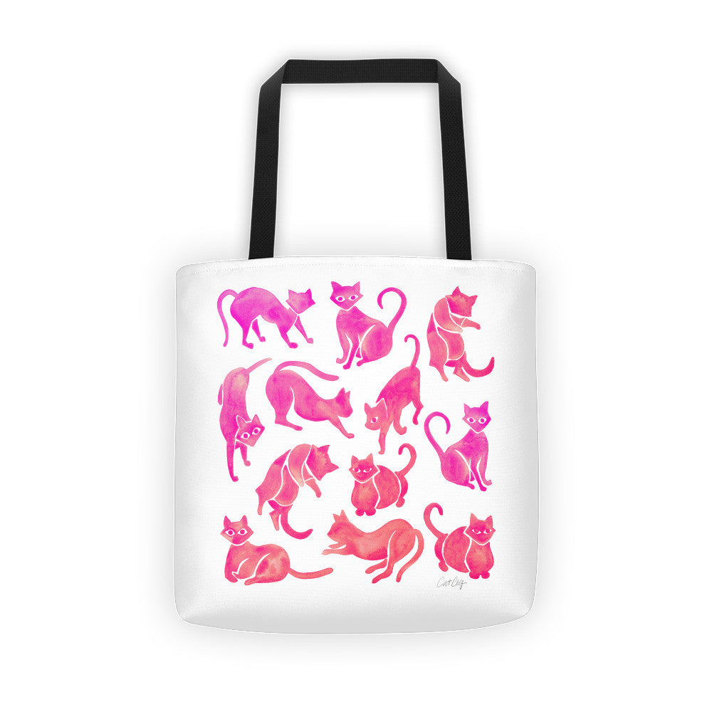 Cat Positions – Pink Ombré Palette  •  Tote Bag