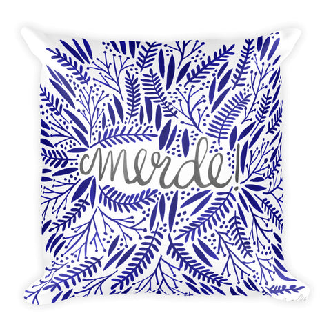 Merde – Navy & Grey • Square Pillow