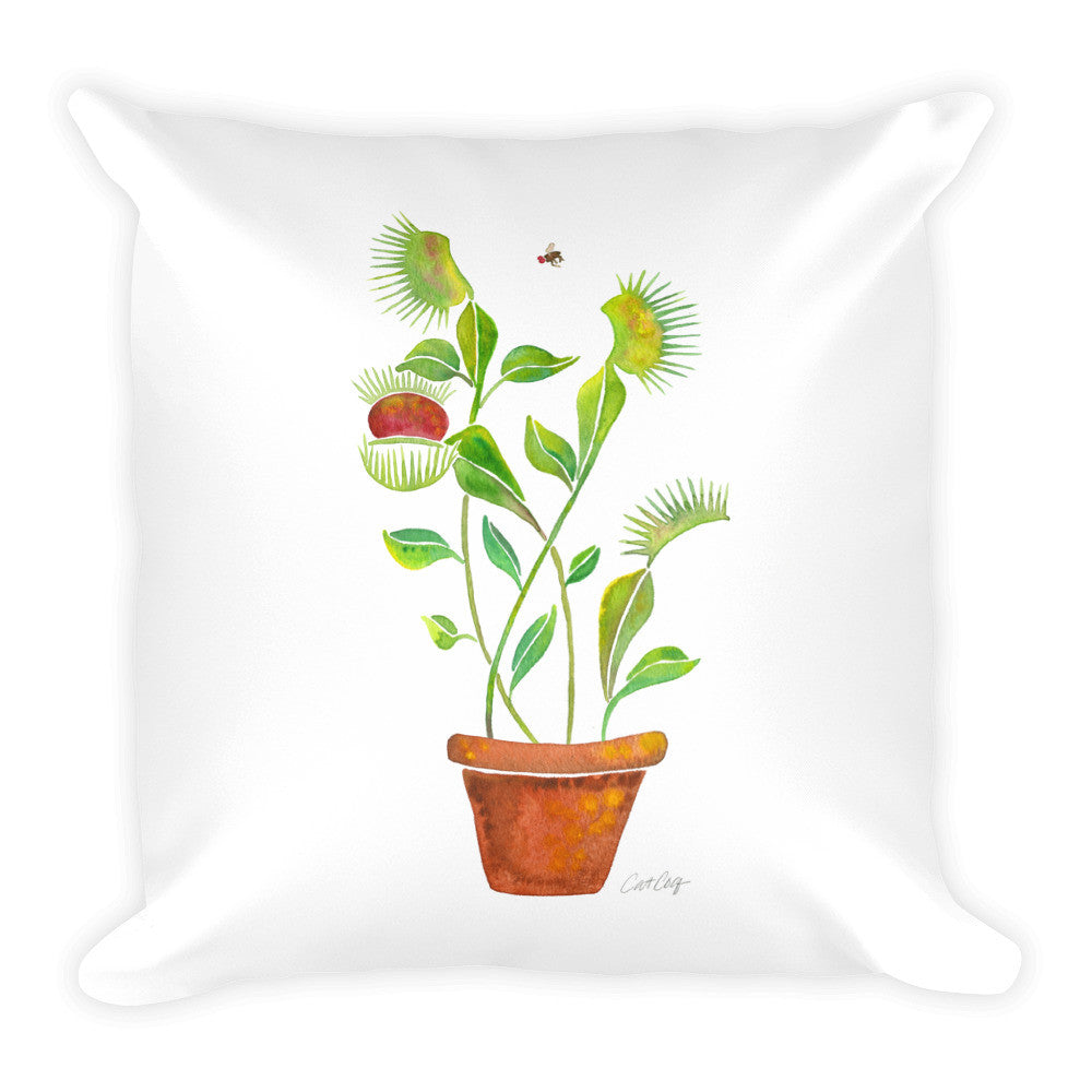Venus Fly Trap • Square Pillow