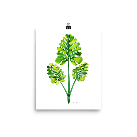 Palm Leaf Trifecta – Green Palette • Art Print