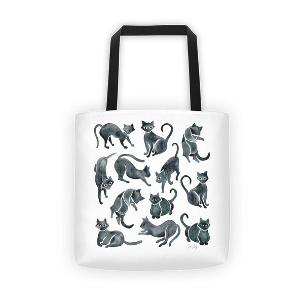 Cat Positions – Black Palette  •  Tote Bag