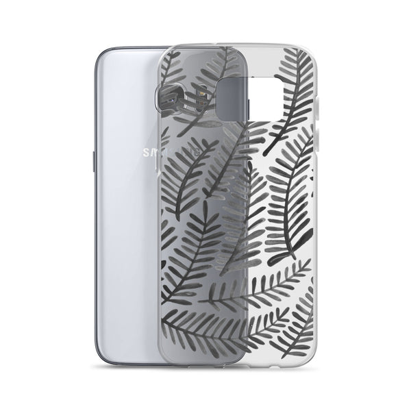 Fronds – Black Palette • Samsung Case (Transparent)