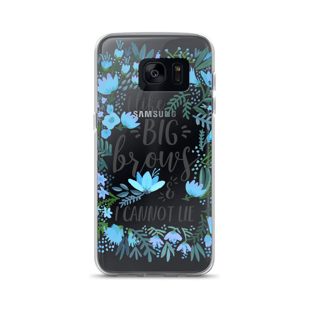 Big Brows – Blue Palette • Samsung Case (Transparent)