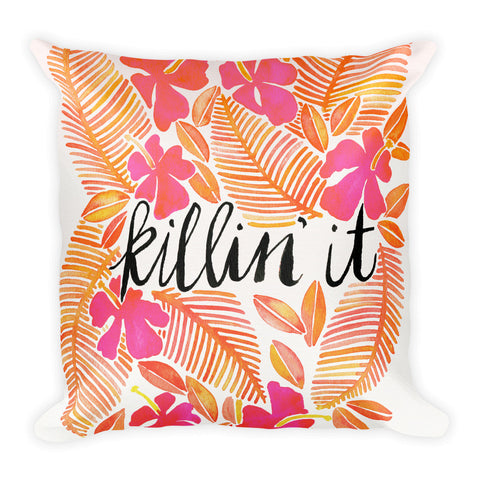 Killin' It – Melon Ombré Palette  •  Square Pillow