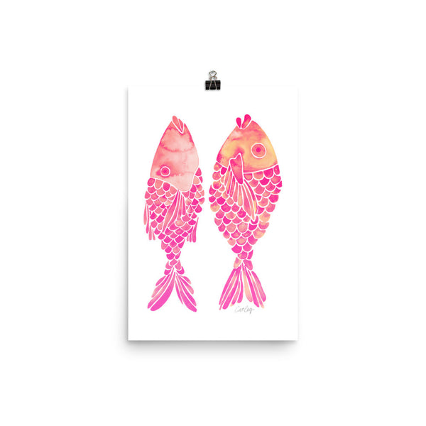 Indonesian Fish – Pink Palette • Art Print