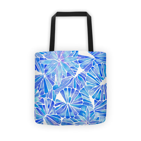 Water Lilies – Blue Palette  •  Tote Bag
