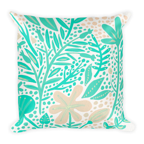 Garden – Mint Palette  •  Square Pillow