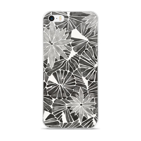 Water Lilies – Black Palette  •  iPhone 5/5s/Se, 6/6s, 6/6s Plus Case