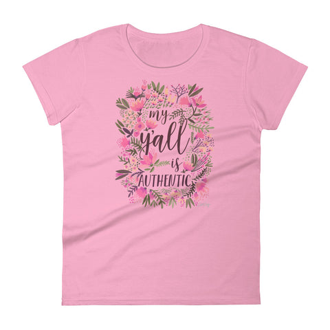 My Y'all is Authentic – Vintage Palette • Women's short sleeve t-shirt