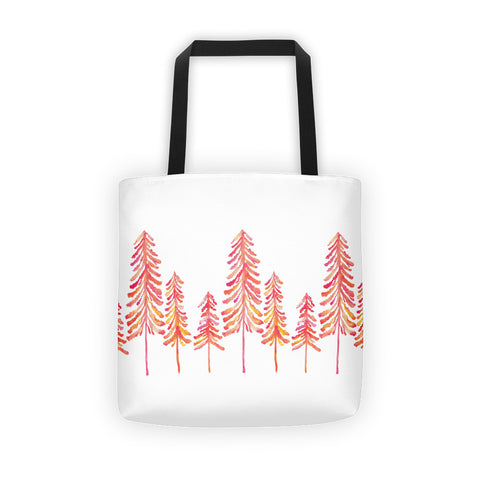 Pine Trees – Pink Ombré Palette • Tote Bag