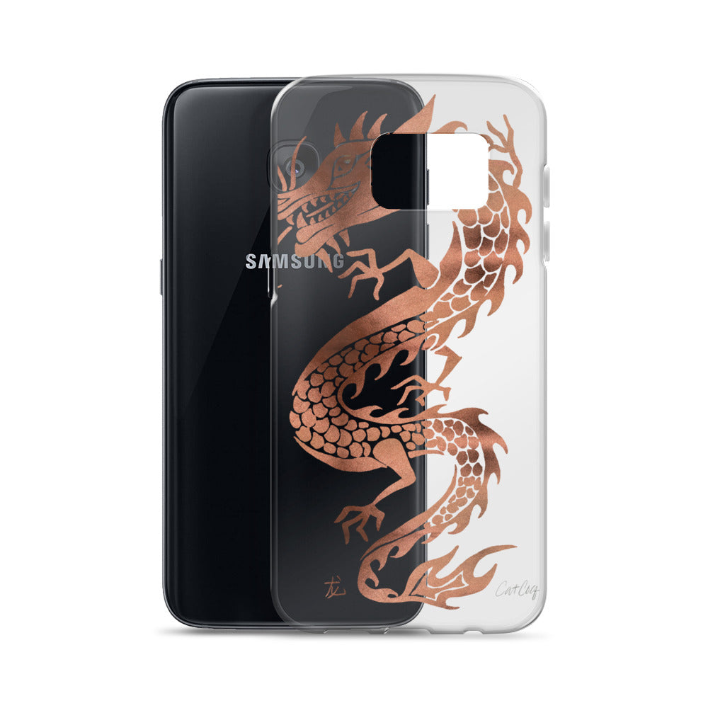Chinese Dragon – Rose Gold Palette • Samsung Case (Transparent)