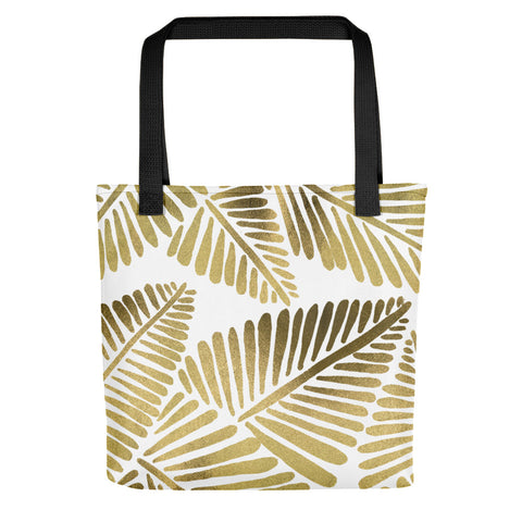 Banana Leaves – Gold Palette • Tote Bag