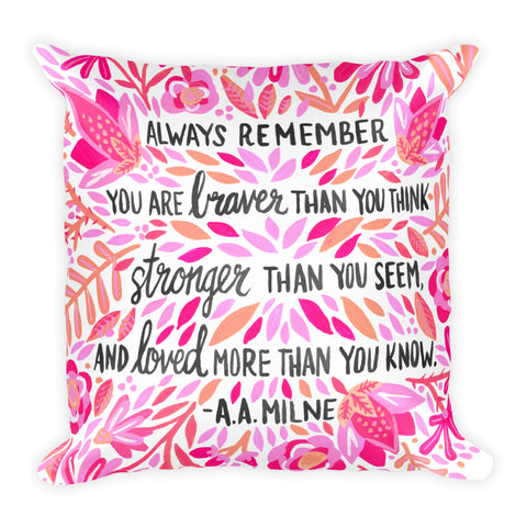 Always Remember – Pink Ombré Palette • Square Pillow