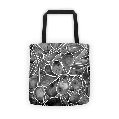 Orchid Wall – Black Palette • Tote Bag