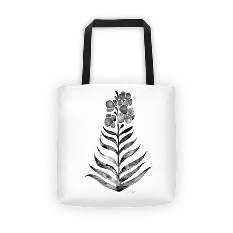 Black Orchid Bloom • Tote Bag