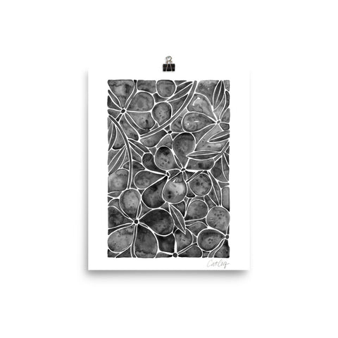 Orchid Wall – Black Palette • Art Print