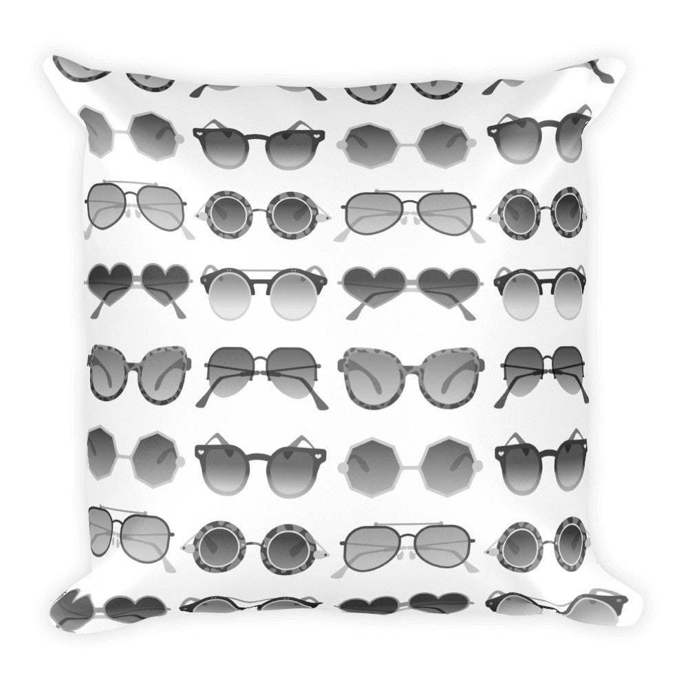 Sunglasses Collection – Black Palette  •  Square Pillow