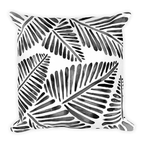 Banana Leaves – Black Palette  •  Square Pillow
