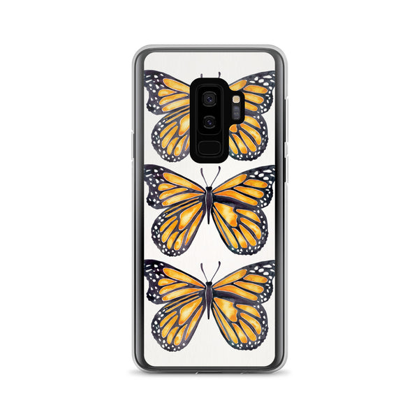Butterfly – Monarch Orange Palette • Samsung Case