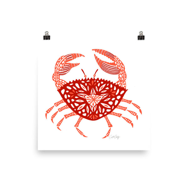 Crab – Red Palette • Art Print