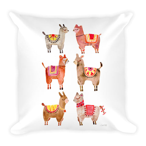 Alpacas  •  Square Pillow