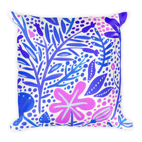 Garden – Indigo Palette  •  Square Pillow