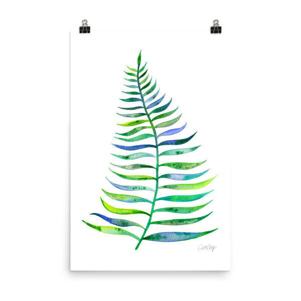 Palm Leaf – Green Palette  •  Art Print