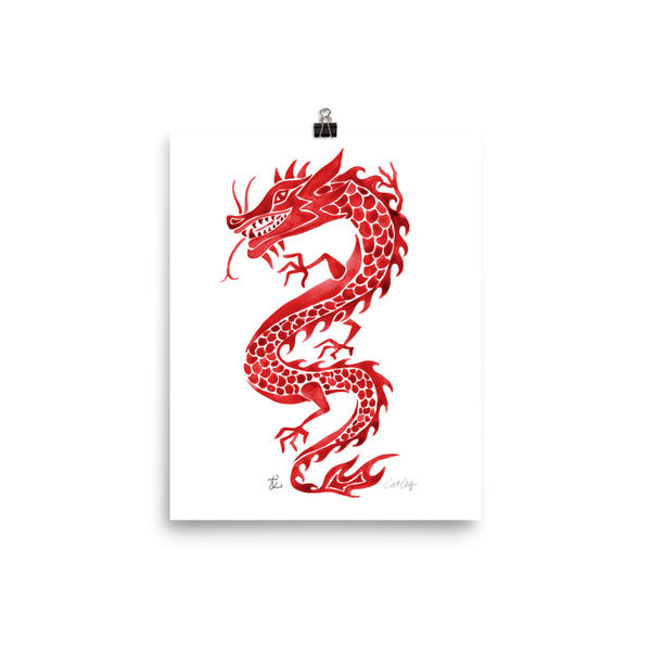 Chinese Dragon – Crimson Palette • Art Print