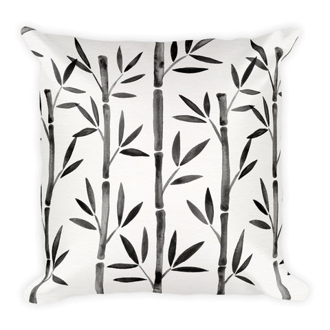 Bamboo – Black Palette  •  Square Pillow