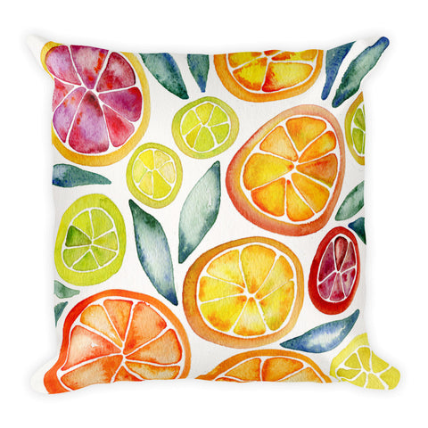 Citrus Slices  •  Square Pillow