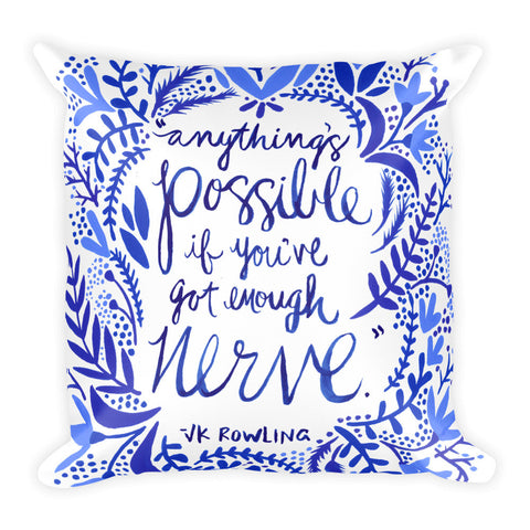 Anything's Possible – Navy Palette • Square Pillow