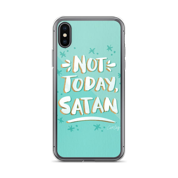 Not Today Satan – Mint Palette • iPhone Case