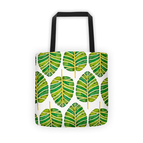 Elephant Ear Alocasia – Green Palette  •  Tote Bag