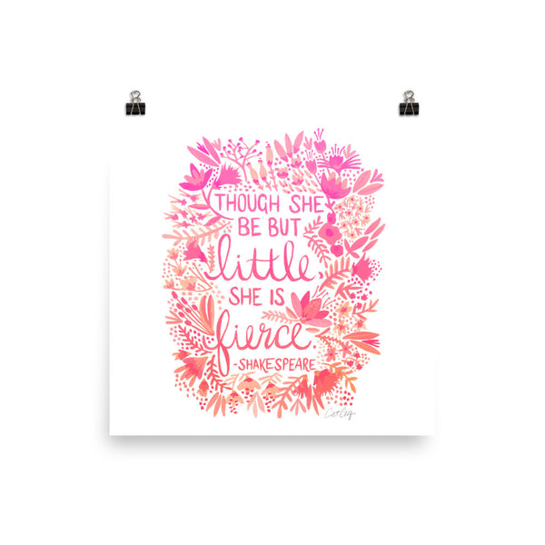 Little & Fierce – Pink Ombré Palette • Art Print